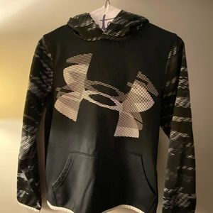 under armour black and white dri fit hoodie